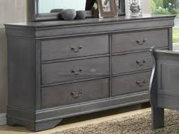 Charming With A Warm Inviting Finish And A Rich Traditional Design, The Carolina Gray  Louis Dresser