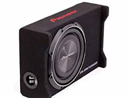 pioneer speakers subwoofer. reinforced mica injection-molded resin preloaded subwoofer cone structure. pioneer speakers