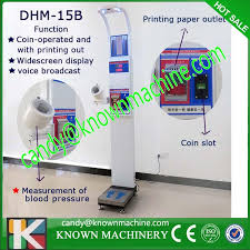 Vending Machine Weight Adorable Blood Pressure Scale Vending Machine 48B Model With Coin Acceptor