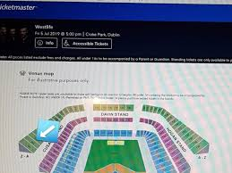Westlife Tickets X3 Cusack Stand Upper Tier For Sale In Cork