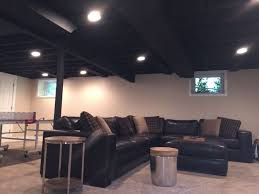 exposed ceiling lighting. Paint For Exposed Ceiling In Basement. Two Coats Of Sherwin Regarding Painted Lights Lighting D