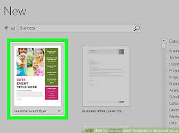 Word Document Template Design 6 Ways To Use Document Templates In Microsoft Word Wikihow