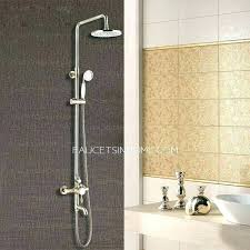 exposed shower faucet exposed plumbing antique bronze bathroom exposed top and hand shower faucets exposed plumbing exposed shower faucet