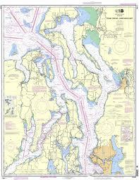 Noaa Chart 18441 Puget Sound Northern Part