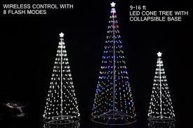 Cone Shaped Christmas Tree Lights 108 Inch 9 Ft Led Light Christmas Tree Multicolor With