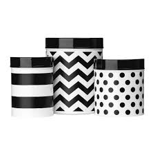 awesome black and white kitchen canister set black and white checd canisters white background