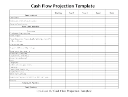 Pro Forma Cash Flow Projections Cash Flow Layout Template Statement Example Excel Simple