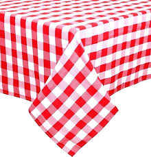 black and white striped round plastic tablecloth checd check vinyl inch table covers red gingham tab