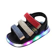 Toddler Boy Light Up Sandals Sunbona Baby Boys Girls Led Light Up Sandals Soft Sole Anti Slip Summer Toddler Sneaker Shoes