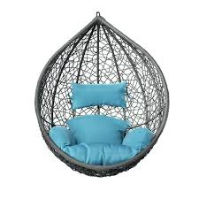 outdoor wicker swing chair rattan egg hanging with pillow