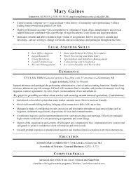 Law Resume Samples Legal Assistant Resume Sample Legal Clerk Resume