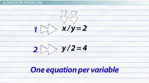 solving division equations with two or more variables