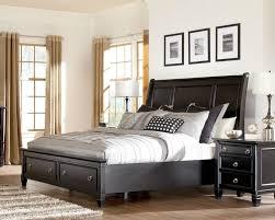 Black Storage Bed ...