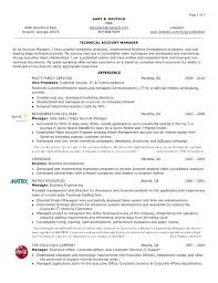 Templates Resume Stunning Account Manager Resume Sample Account Manager Example 48 Sample Key