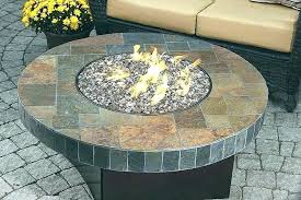 outdoor glass fire pit table crystal luxury propane diy midnight blac