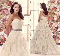 2014 fall mikaella taffeta and organza wedding dress strapless