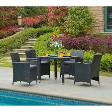 5 piece outdoor dining set. Mcnew 5 Piece Outdoor Dining Set With Cushion D