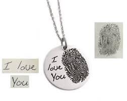 fingerprint necklace handwriting jewelry end fingerprint fingerprint jewelry signature jewelry fingerprint keepsake 1233