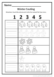 Fun Math Winter Worksheets Free Printable For Grade Exercise ...