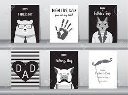 幸せな父の日のカードポスターテンプレートグリーティング カードかわいい熊猫豚動物ベ