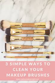 3 simple ways to clean your makeup brushes with maskcarabeauty