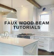 faux wood countertops tile beam tutorials style