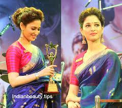 tamannah hairstyle with saree deepika padkone messy updo hairstyle with saree