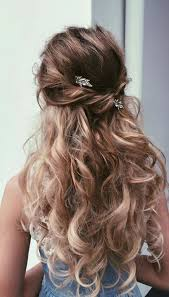prom hairstyle for long hair with accessories