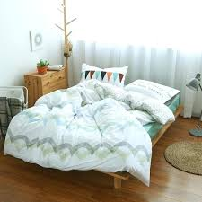 100 cotton duvet covers queen comforter sets stripes wave bedding set green bed sheet custom size