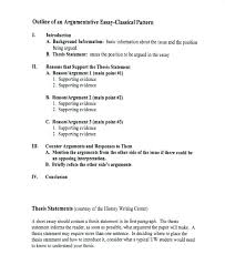 Thesis Argumentative Essay Example Of Thesis Statement For Argumentative Essay Example Of A
