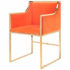 anastasia hollywood regency orange velvet br frame dining chair kathy kuo home