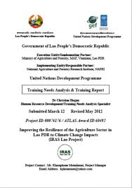 Undp Lao Pdr – Training Needs Analysis And Training Report (May 2012 ...