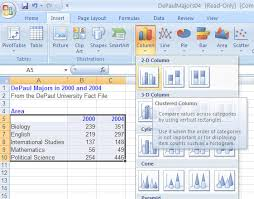 how to create graphs in excel making graphs in excel 2007