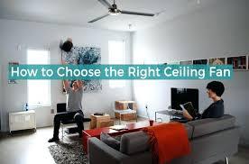 room choosing a ceiling fan blade