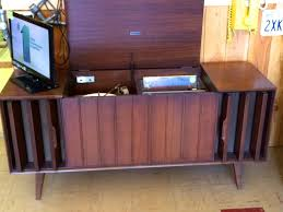Mid Century Cabinet Console Stereos with record player