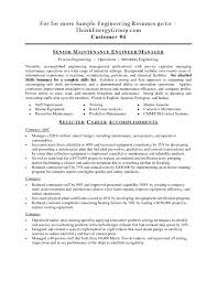 Supervisor Resume Sample Maintenance Manager Resume Sample