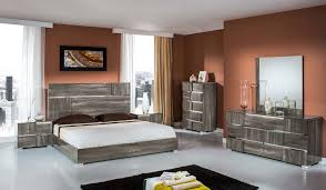 wooden furniture bedroom. Rustic Grey Wooden Bed With Headboard Next To Bedside Table Added By Dressing Mirror Furniture Bedroom N