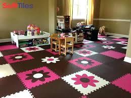 playroom floor tiles fun girls using flower foam mats power interlocking rubber playroom floor tiles