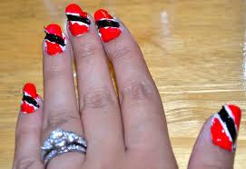 Trinidad Flag Nail Design Diy Trini Flag Nails Beauty By Sammie