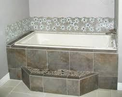 glass tile mosaic bathtub