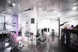beauty salon lighting. interior of modern beauty salon lighting