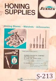 Sunnen Honing Stones Mandrels Accessories Manual Sunnen