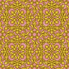 Decoratief Gouden Naadloos Die Patroon Op Roze Achtergrond Wordt
