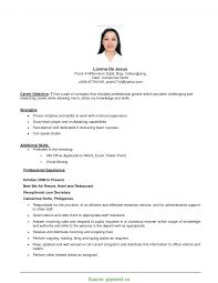 Good Objective In Resume For Job Application Sample Resume