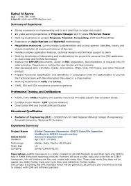 Scrum Master Resume Rahul Sarve Resume Project Manager 43