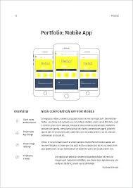 Content Creation Proposal Template Unique Mobile App Design Proposal