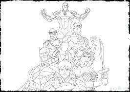 Justice League Coloring Pages To Print And Justice League Unlimited