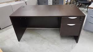 espresso dark walnut desk with locking drawers