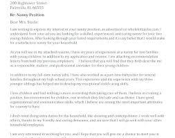 Cover Letter Babysitter Sample Nanny Resume Nanny Resume Cover ...
