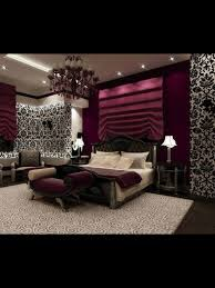 Plum Colored Bedrooms Love This Such A Romantic Bedroom With Black And White Wallpaper